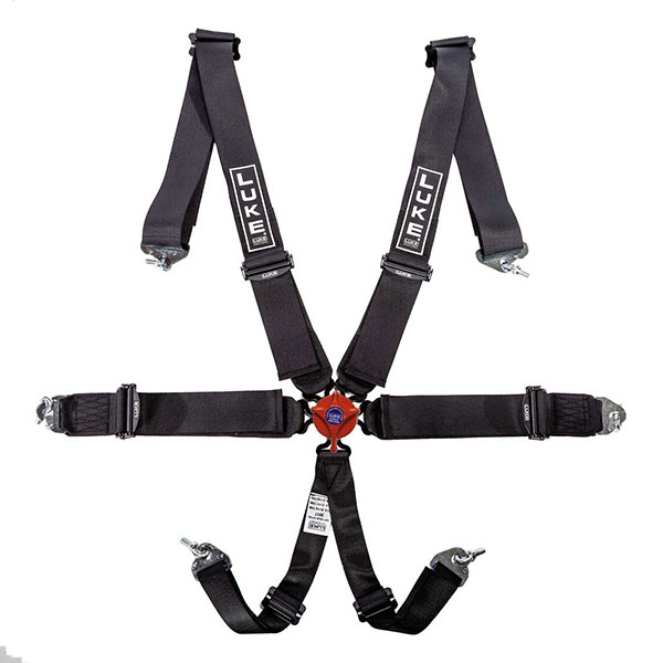 LUKE 5-point Racing Harness in Black