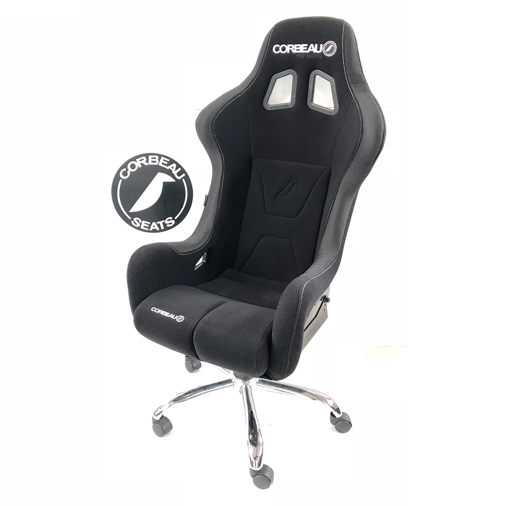 Pro-Series Black and Grey Office Bucket Seat - Corbeau Seats