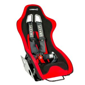 Corbeau Ariel Atom Bucket Seat in Red/Black with Black LUKE Harnesses