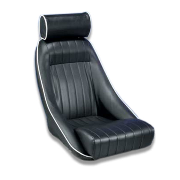 Corbeau Classic Bucket Seat in Navy With White Stitching