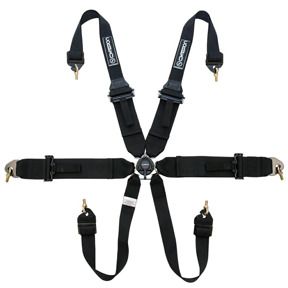 Corbeau Black 6-Point Racing Harness - Racing Harnesses by Corbeau Seats