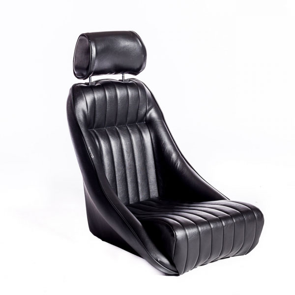 Corbeau Seats Classic Bucket Seat available in Black Vinyl or Black Leather