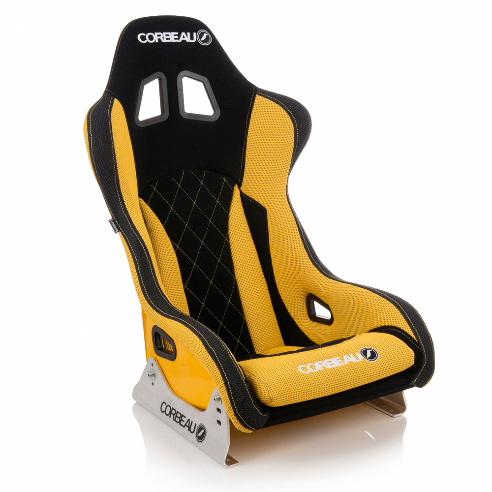 Custom Corbeau Sprint X Bucket Seat in Yellow and Black Elite Upgrade