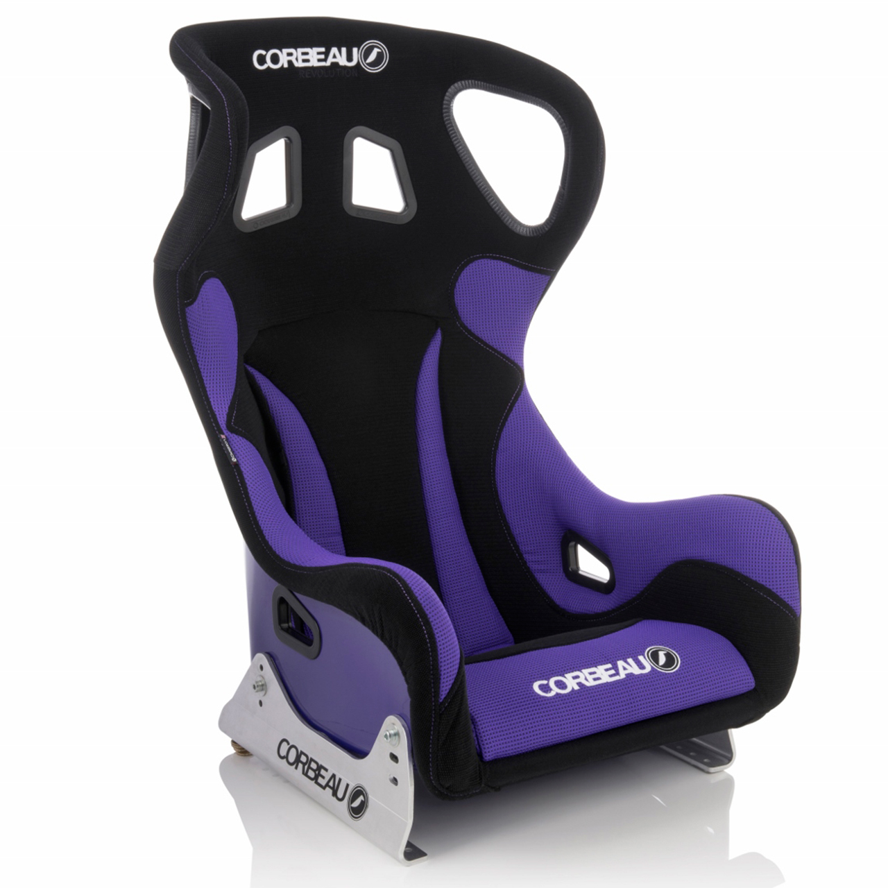 Corbeau Revolution X Bucket Seat with Custom Black/Purple Elite Upgrade