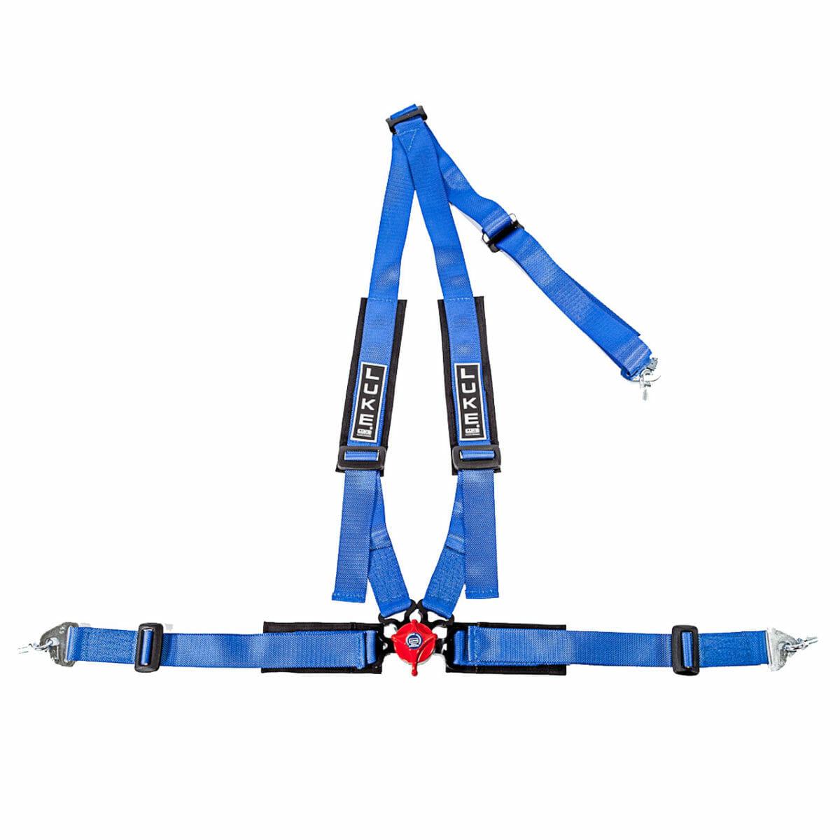 LUKE Professional 4 Point Racing Harness in Sky Blue