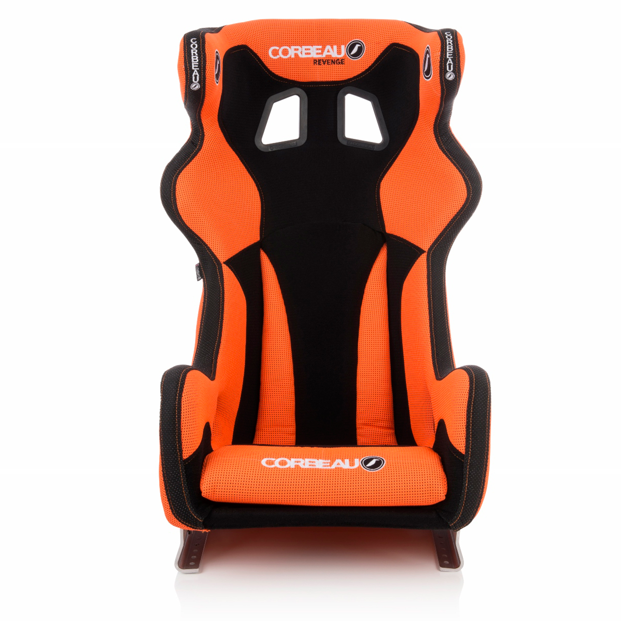 Corbeau Revenge X Custom Bucket Seat in Orange/Black - Front View