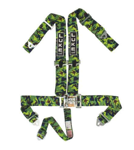 LUKE 5-point off-road Racing Harness in Camo/Green