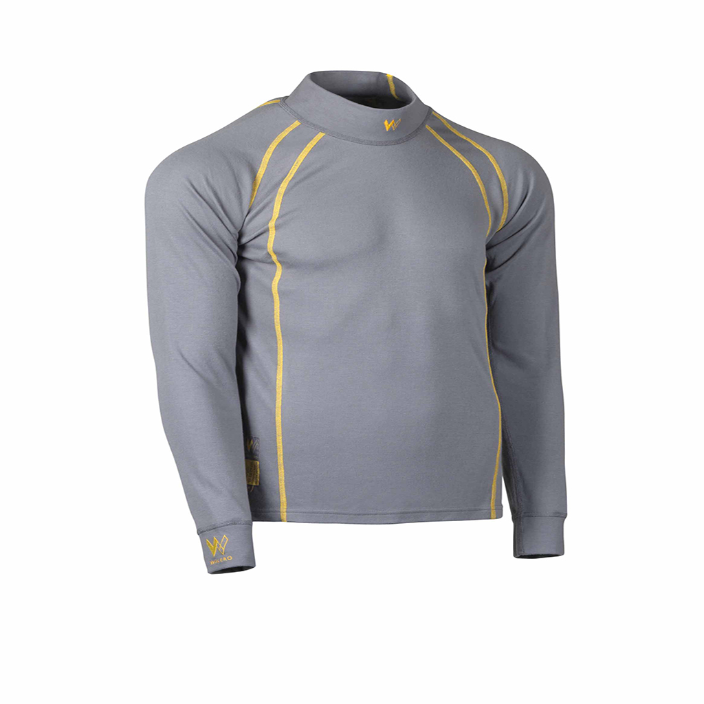 Walero Fireproof Racewear Underwear, Top in Cool Grey and Yellow - Motorsport Clothing