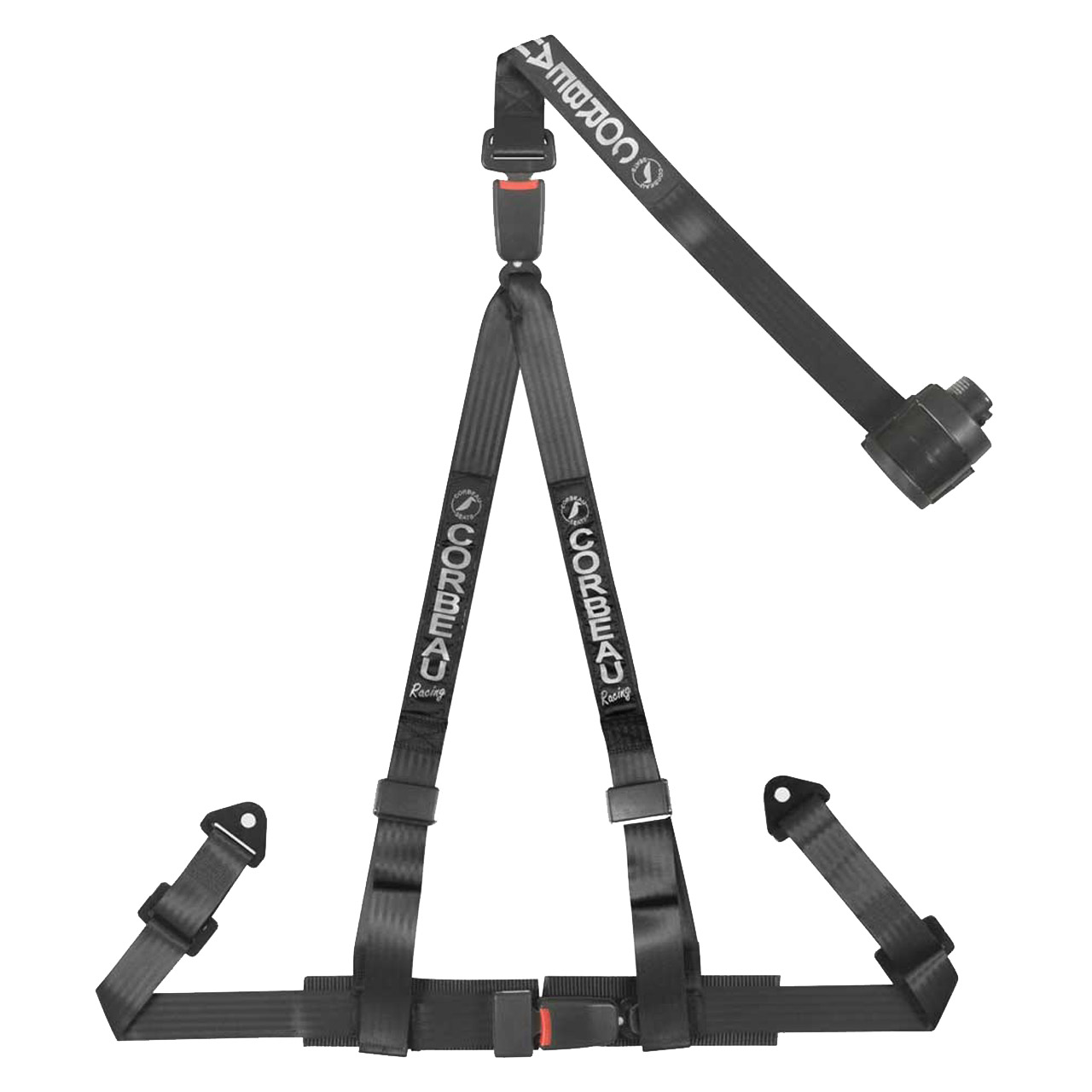Corbeau 3 Point Retractable Harness in Black