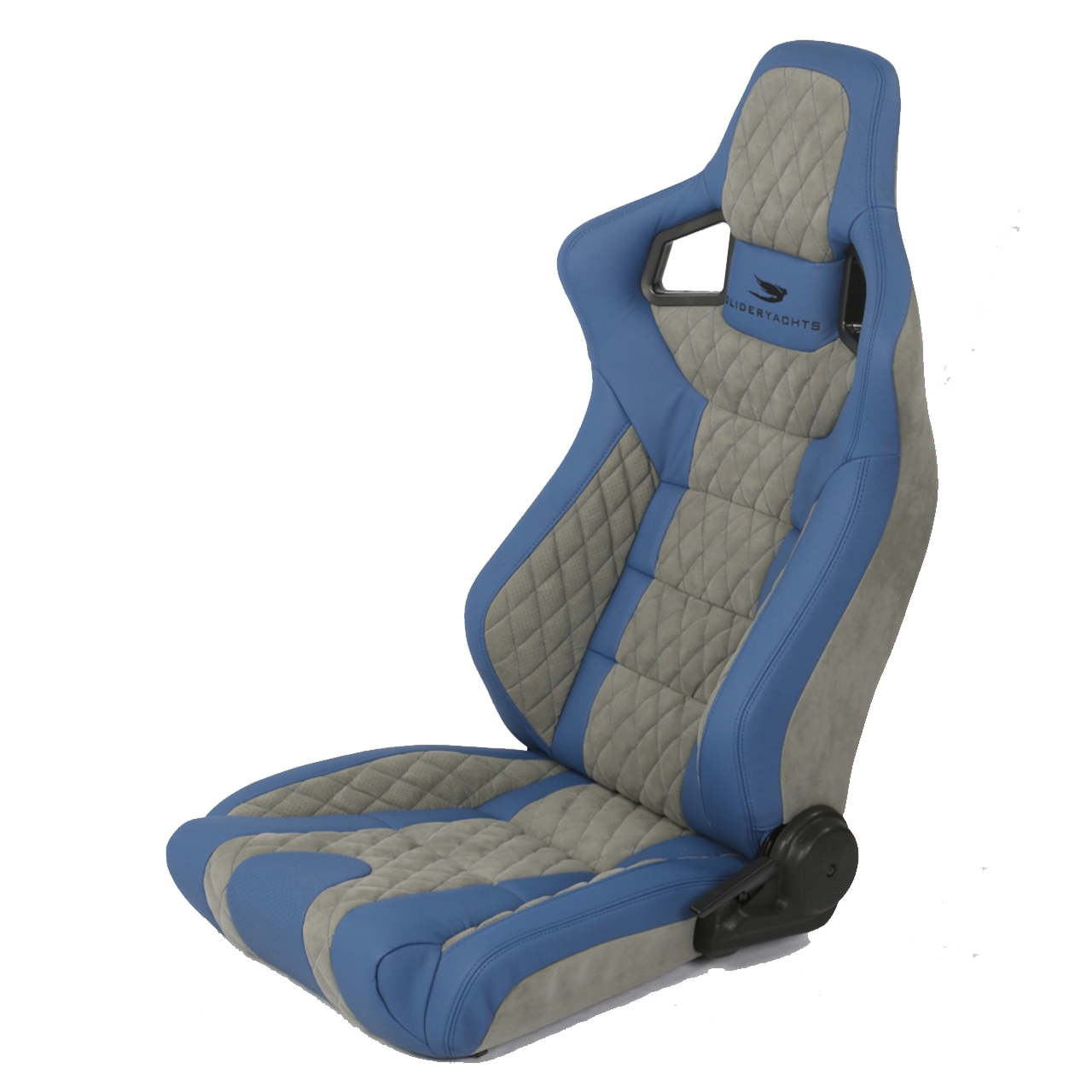 Corbeau Seats RRS Reclining Bucket Seat in Blue/Grey Elite Upgrade