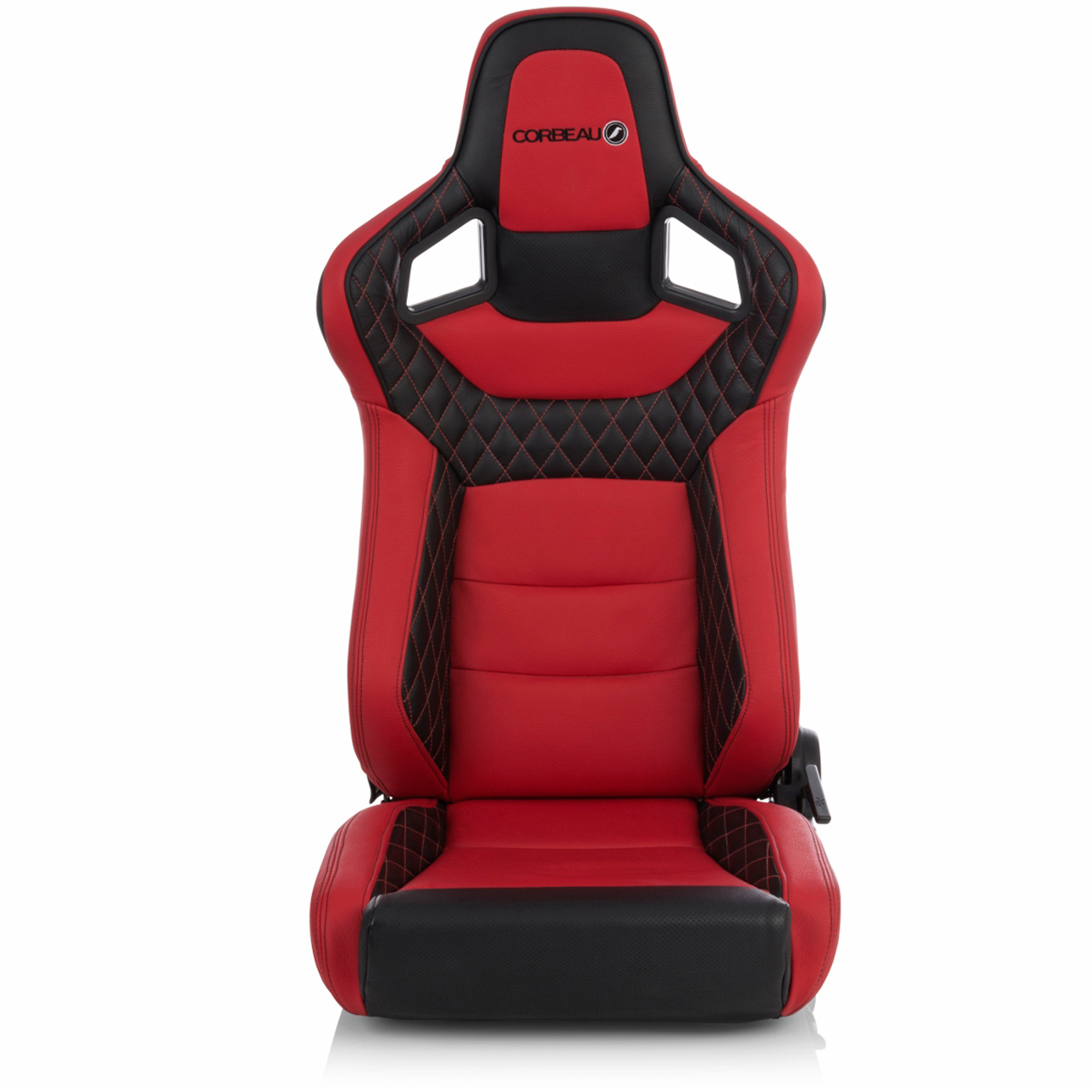 Corbeau Sportline RRS Low Base Reclining Bucket Seat in Red and Black Custom Elite Upgrade