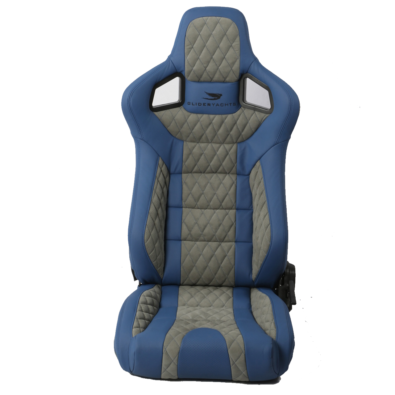 Corbeau Sportline RRS Reclining Bucket Seat in Blue/Grey Custom Elite Upgrade