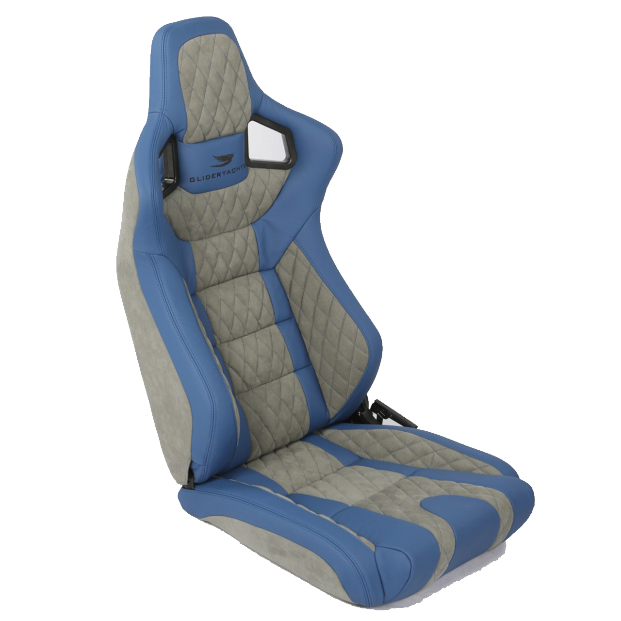 Corbeau Sportline RRS Reclining Race Seat with Blue/Grey Custom Elite Upgrade