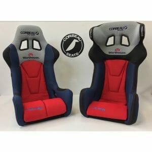 Pair of Custom Worthouse Corbeau Racing Seats - FIA Bucket Seats