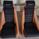 Pair of Corbeau GT4 Classic Bucket Seats in Custom Black/Orange Upgrade