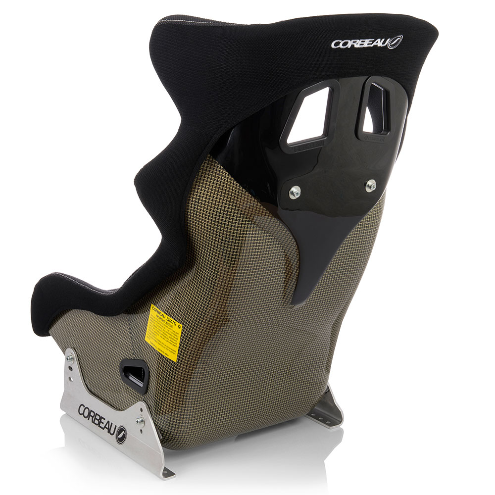 Corbeau HEXA Racing Seat in Carbon / Kevlar (back / Side View) - Corbeau Bucket Seats