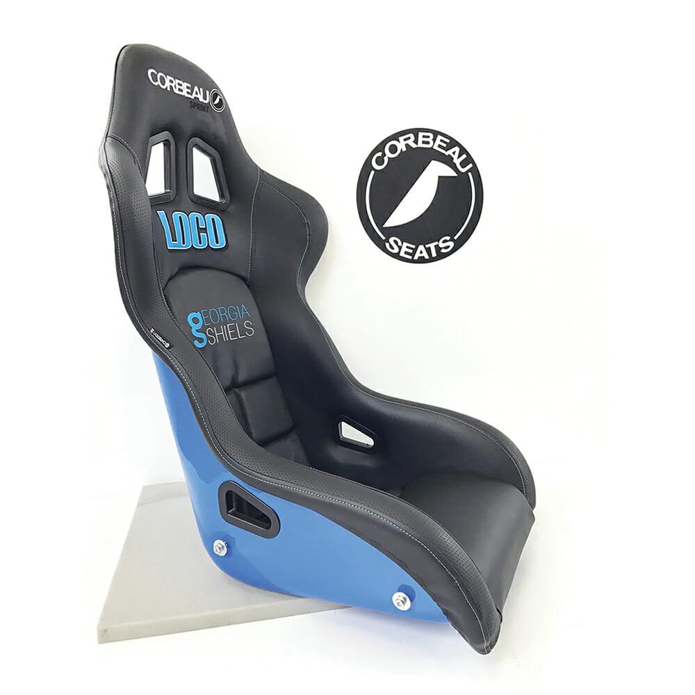 Corbeau Sprint X Custom Bucket Seat in Black and Blue
