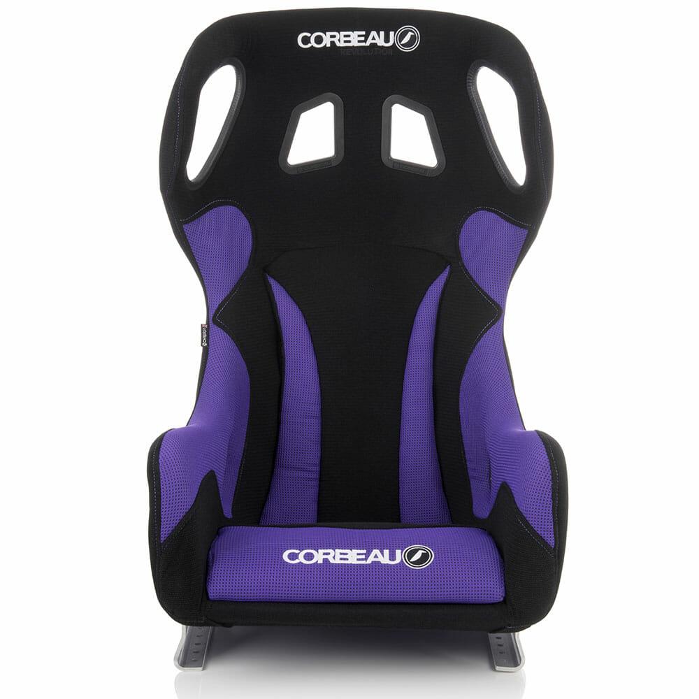 Corbeau Revolution X Bucket Seat in Purple, Front View