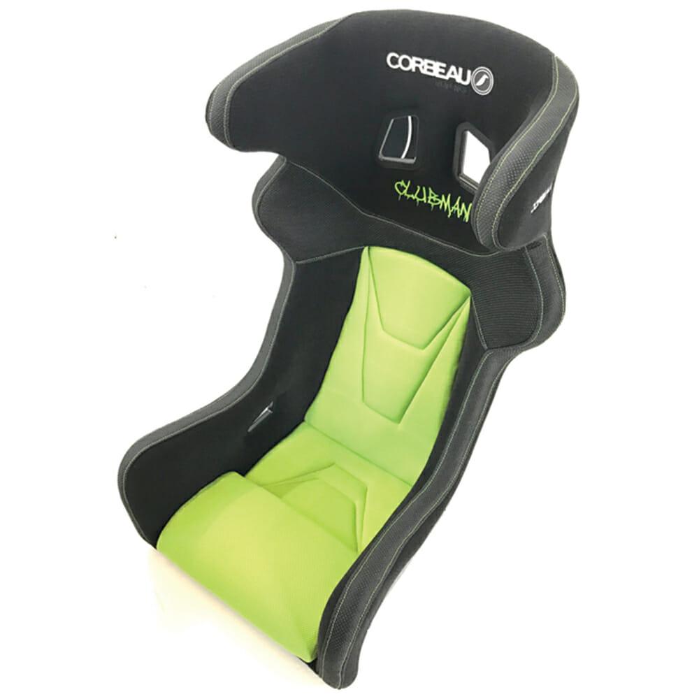 Corbeau Predator Custom Bucket Seat in Black and Green