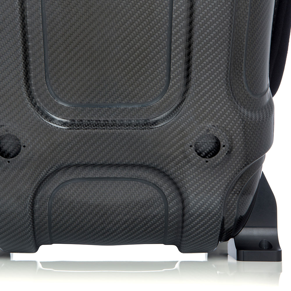 Predator Bucket Seat in Black - Back View - Corbeau Seats