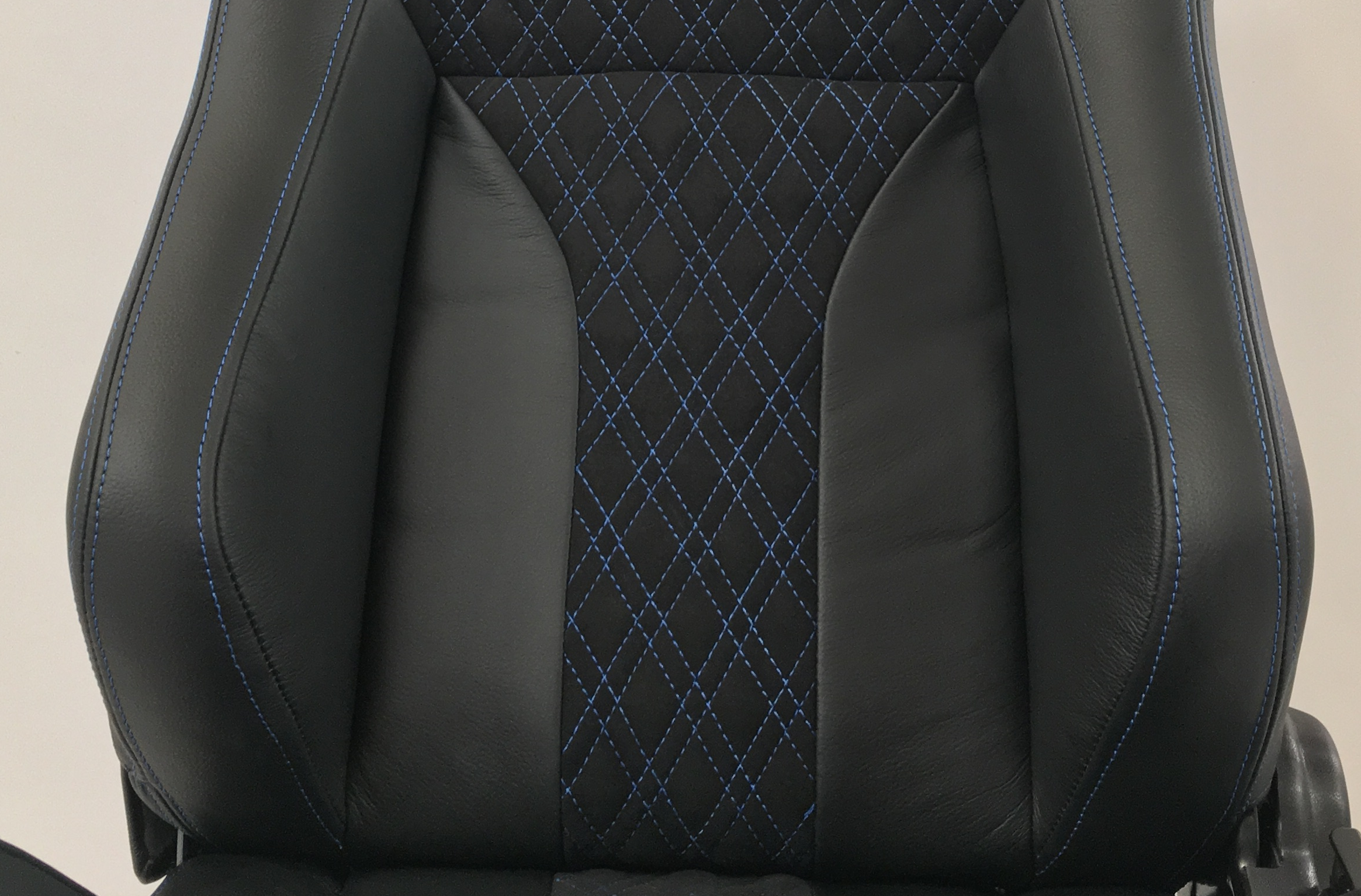 Corbeau RRS Reclining Bucket Seat in Black with Blue Double Diamond Stitching - Custom Elite Upgrade Option