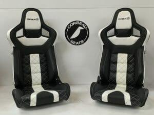 Corbeau RRS Elite Upgrade in Custom Black/Cream Design