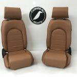 Corbeau Sportsman Classic Reclining Bucket Seats in Tan (Custom Option)