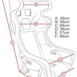 Predator Racing Seat / Bucket Seat Dimensions - Corbeau Seats