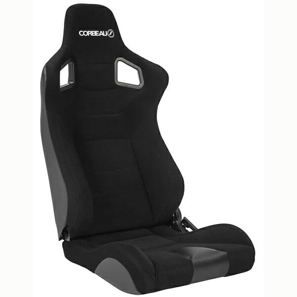 Corbeau Sportline RRS Reclining Bucket Seat in Black Cloth