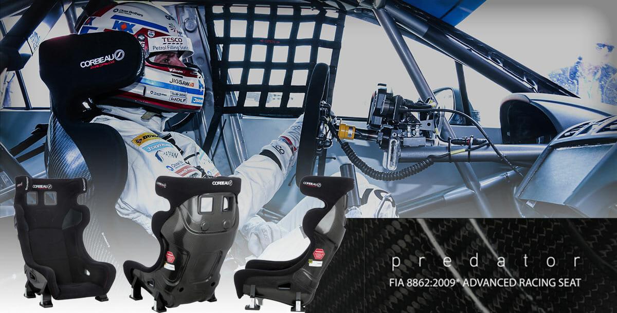Predator Advanced Racing Seats Motorsport Racing Banner - Corbeau Seats