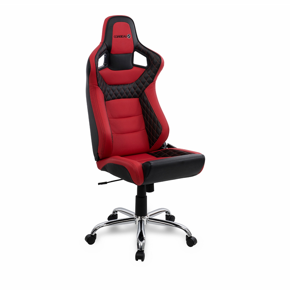 Elite RRS Low Base Reclining Bucket Seat Office Chair in Red/Black