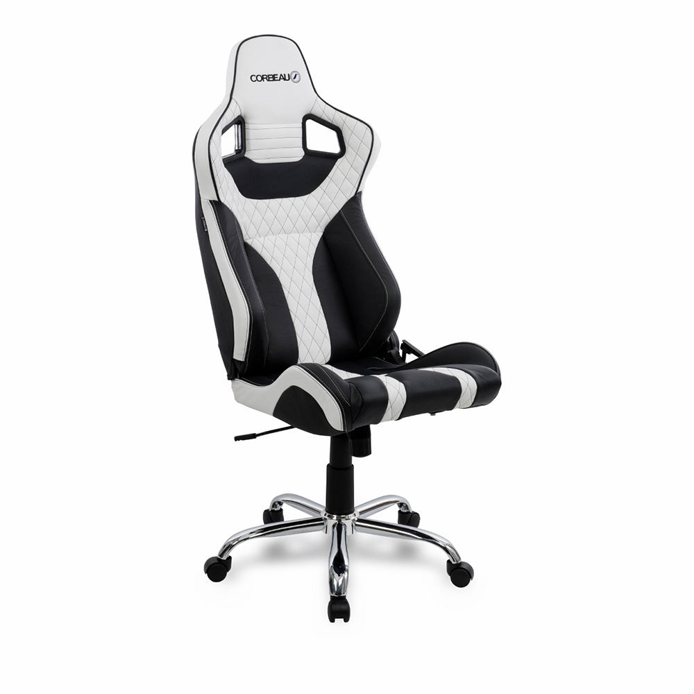 Elite RRS Reclining Bucket Seat Office Chair in White/Black