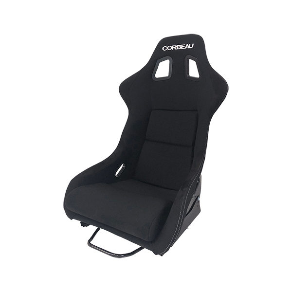 Corbeau Club Sport Bucket Seat in Black - Side View
