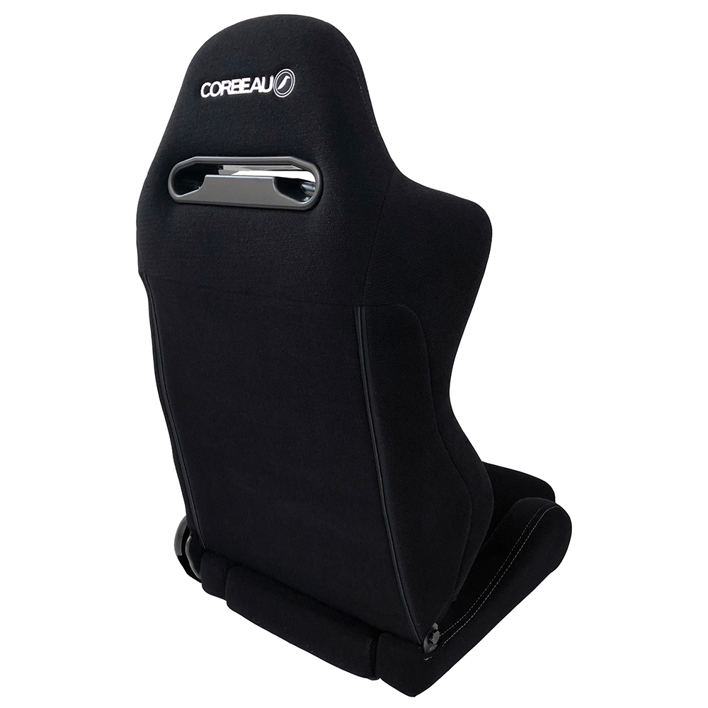 Corbeau RS2 Reclining Bucket Seat in Black - back view