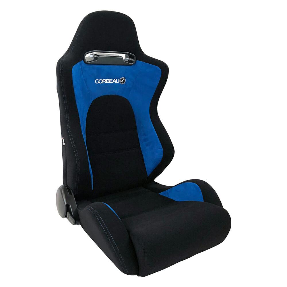 Corbeau RS2 Reclining Bucket Seat in Black/Blue