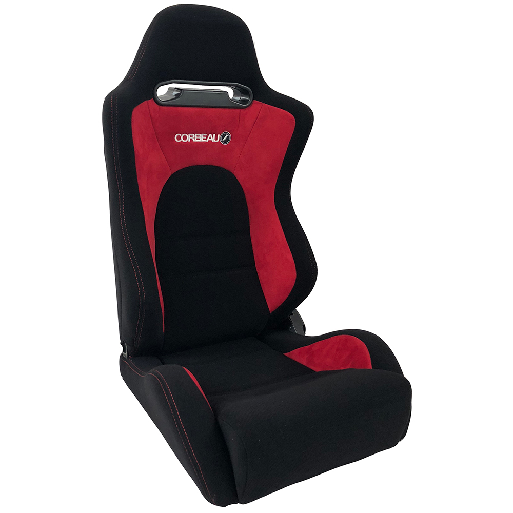Corbeau RS2 Reclining Bucket Seat in Black/Red
