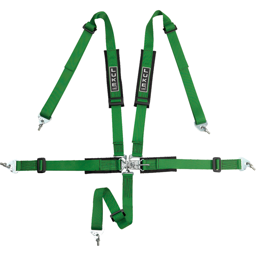 LUKE off road 5 point harness in green