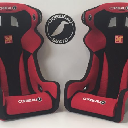 Revenge X Custom Bucket Seats in Red and Black by Corbeau Seats