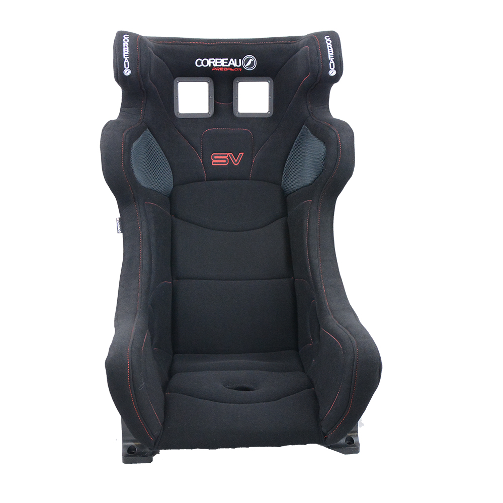 Corbeau Predator SV FIA Racing Seat in Black - front view - FIA Approved