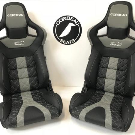Grey Custom Bucket Seat for Supra by Corbeau Seats - Elite Upgrade