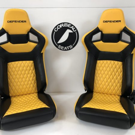 Yellow Defender Custom Racing Seat by Corbeau Seats - Elite Upgrade