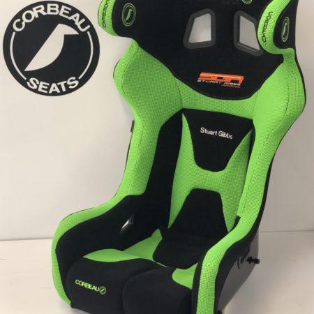 Green Custom Bucket Seat for Stuart Gibbs by Corbeau Seats - Elite Upgrade