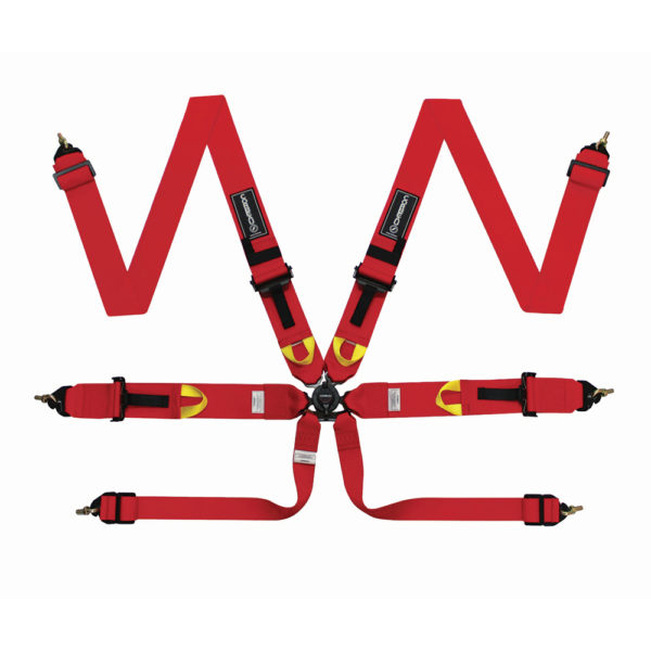 Corbeau Ultima Pro 6 Point Harness S3036 in Red