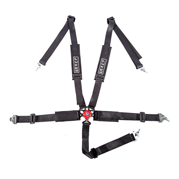LUKE 5 Point Harness in Black/Red - Professional Harness Range