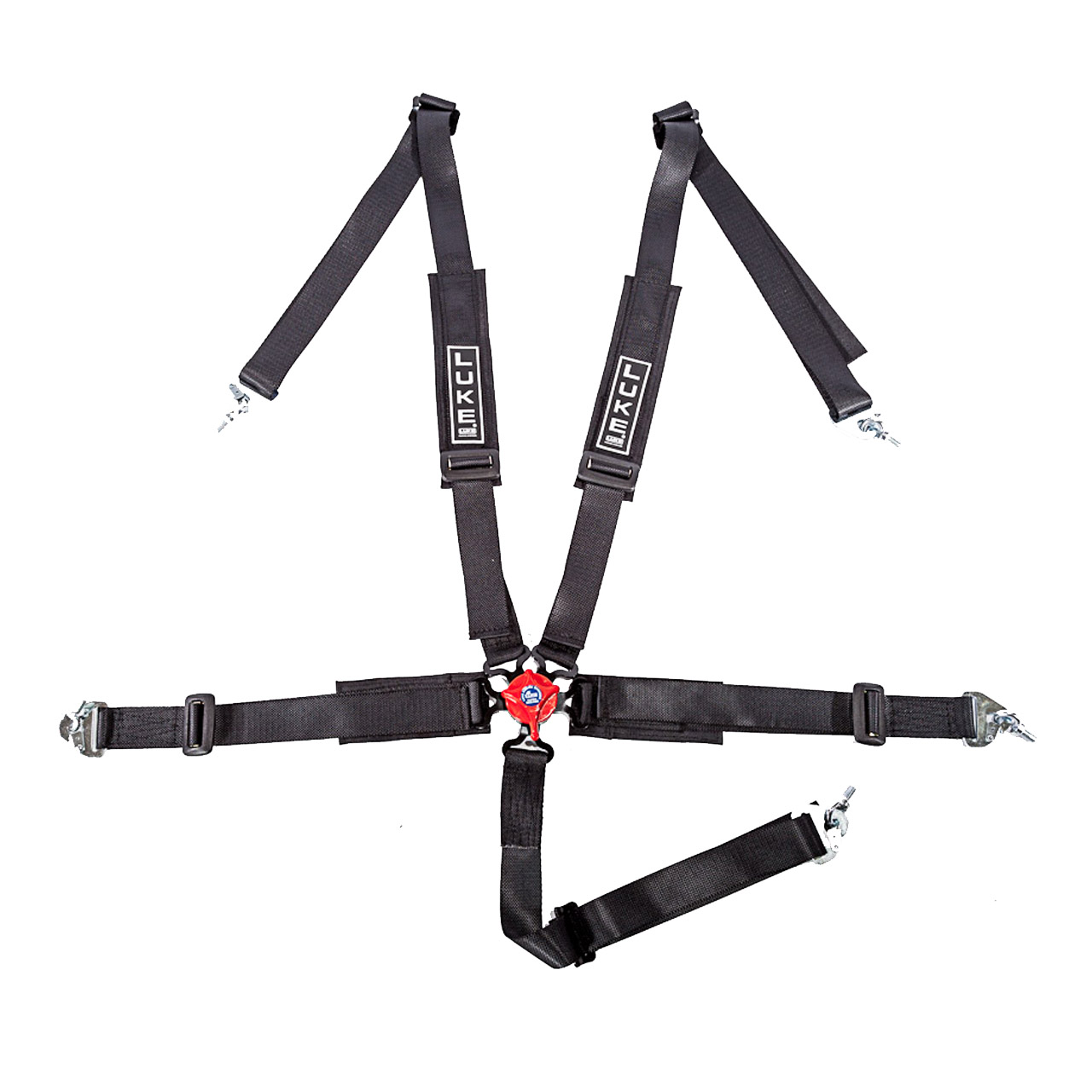 LUKE 5 Point Racing Harness in Black/Red - Professional Harness Range