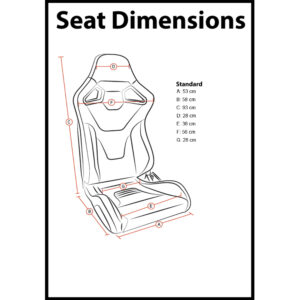 RXI Bucket Seat Dimensions 2020