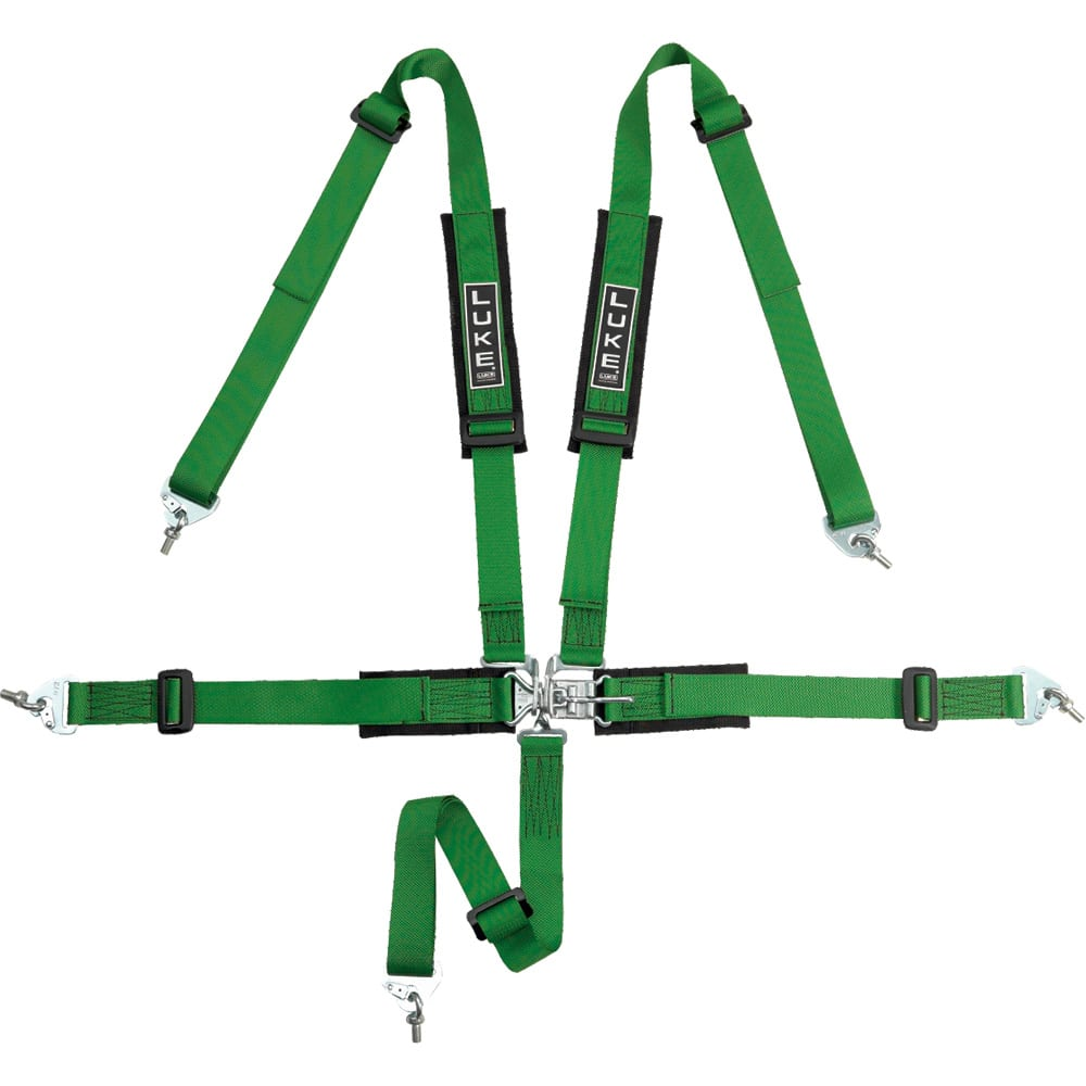 LUKE 5 Point Harness for Off-Road Driving in Green - Racing Harnesses