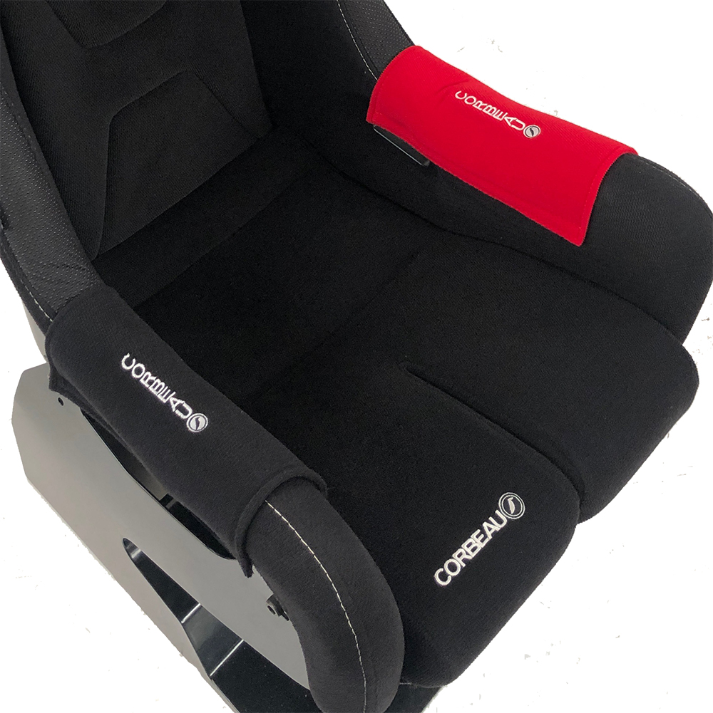 Red Side Bolster Protectors for our Fixed-Back Bucket Seat Range - Corbeau Seats
