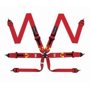 Corbeau Ultima Pro 6 Point Harness S3026 in Red