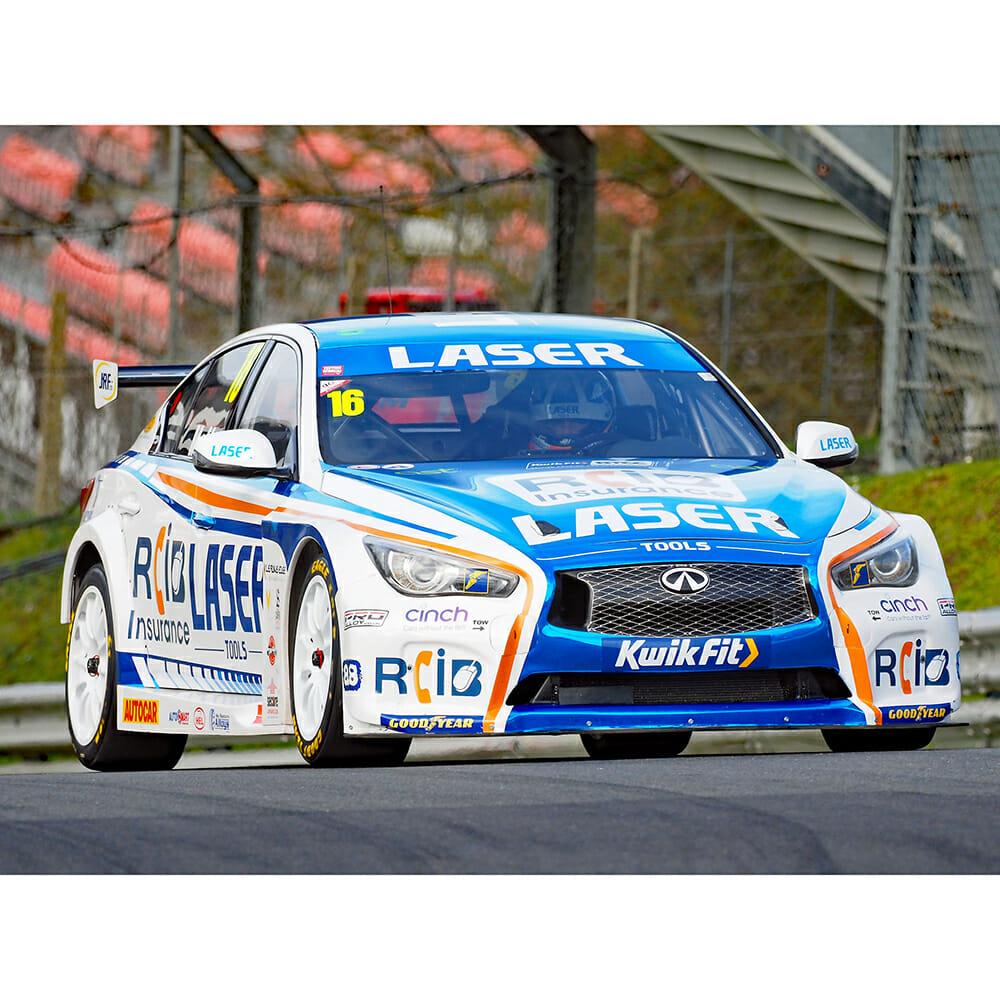BTCC Infinity Racing Car with Laser Tools Racing livery